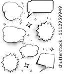 set of comic speech talking...   Shutterstock .eps vector #1112959949