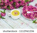 traditional herbal tea of red... | Shutterstock . vector #1112961236