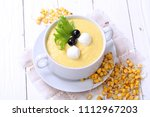 corn porridge. corn porridge... | Shutterstock . vector #1112967203