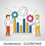 people teamwork concept | Shutterstock .eps vector #1112967443