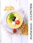 corn porridge. corn porridge... | Shutterstock . vector #1112967806