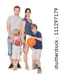 happy family with children... | Shutterstock . vector #111297179