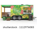 3d Rendering Of A Food Tailer...