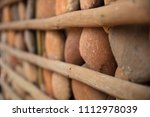 houses with stone walls  ... | Shutterstock . vector #1112978039