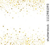 vector golden confetti on... | Shutterstock .eps vector #1112981093
