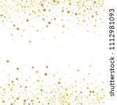 vector golden confetti on... | Shutterstock .eps vector #1112981093