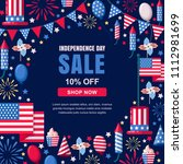 usa independence day sale... | Shutterstock .eps vector #1112981699