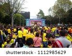 bogota  colombia  21 jun 2015   ... | Shutterstock . vector #1112985629