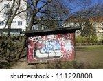 graffiti on a panel  sweden | Shutterstock . vector #111298808