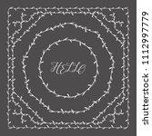 leaves frame. vector. | Shutterstock .eps vector #1112997779