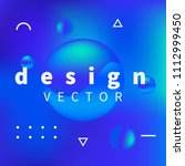 new design trend with blue... | Shutterstock .eps vector #1112999450