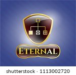 gold badge or e gold badge... | Shutterstock .eps vector #1113002720