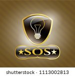 gold shiny emb shiny badge... | Shutterstock .eps vector #1113002813
