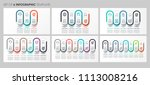 vector infographics set with... | Shutterstock .eps vector #1113008216