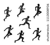 illustration of sprinter drawn... | Shutterstock .eps vector #1113008936