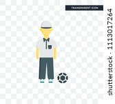 referee vector icon isolated on ... | Shutterstock .eps vector #1113017264