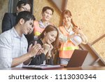 business people group on... | Shutterstock . vector #1113030344