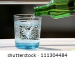 Pouring Mineral Water In The...