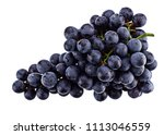 Purple Grape Isolated On White...