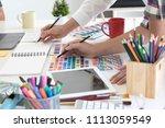 team of creative designers... | Shutterstock . vector #1113059549