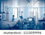 equipped intensive care unit of ...   Shutterstock . vector #1113059996