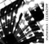 grunge halftone black and white ... | Shutterstock . vector #1113062549