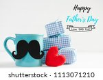 happy fathers day concept.... | Shutterstock . vector #1113071210