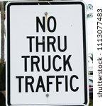 No Thru Truck Sign