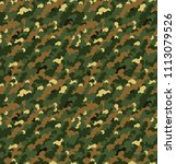 seamless camouflage in green... | Shutterstock .eps vector #1113079526