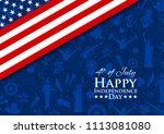 illustration of american flag... | Shutterstock .eps vector #1113081080