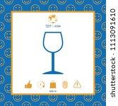 wineglass symbol icon | Shutterstock .eps vector #1113091610