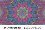geometric design  mosaic of a... | Shutterstock .eps vector #1113094103