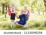 happy woman holding daughter's...   Shutterstock . vector #1113098258