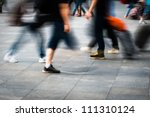 city people walking on piazza... | Shutterstock . vector #111310124