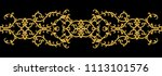 seamless pattern. golden... | Shutterstock . vector #1113101576