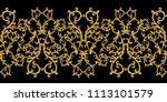 seamless pattern. golden... | Shutterstock . vector #1113101579