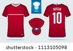 soccer jersey or football kit...   Shutterstock .eps vector #1113105098