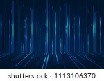 abstract blue lines on dark... | Shutterstock . vector #1113106370