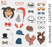 doggy portrait creation kit ...   Shutterstock .eps vector #1113107510