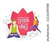 international yoga day. | Shutterstock .eps vector #1113109358