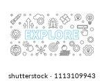 explore vector horizontal... | Shutterstock .eps vector #1113109943