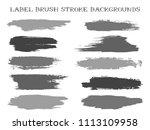 hipster label brush stroke... | Shutterstock .eps vector #1113109958