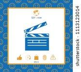 clapperboard icon symbol | Shutterstock .eps vector #1113123014