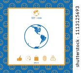 earth icon. logo | Shutterstock .eps vector #1113125693