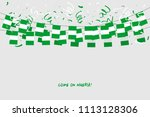 nigeria garland flag with... | Shutterstock .eps vector #1113128306