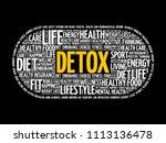 detox word cloud collage ...   Shutterstock .eps vector #1113136478