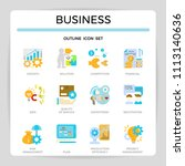 business management flat design ... | Shutterstock .eps vector #1113140636