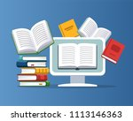 modern education concept.... | Shutterstock .eps vector #1113146363