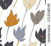 tulips or crocuses vector... | Shutterstock .eps vector #1113148148