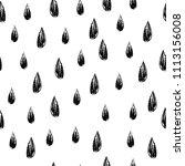 charcoal monochrome rain drops. ... | Shutterstock .eps vector #1113156008